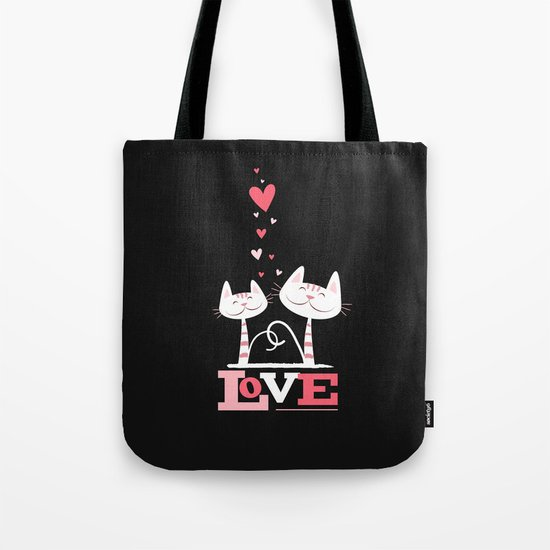 2 Cats in Love Tote Bag