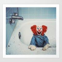 Can't Bathe Clown Will E… Art Print
