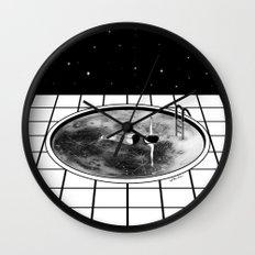 Pool Moon Wall Clock