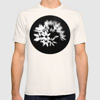 B&W Flower  Mens Fitted Tee Natural SMALL