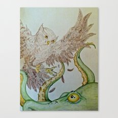 Octopus Owl  Canvas Print