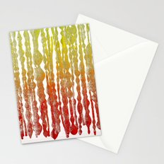 psychedelic stripes - red Stationery Cards