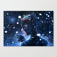 Catwoman Painting Canvas Print