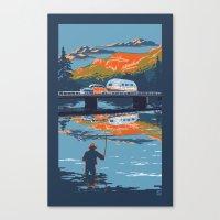 Retro Airstream Travel P… Canvas Print
