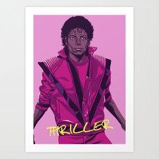 THRILLER - Leather Jacke… Art Print