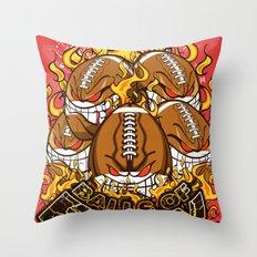 Balls Of Fury Throw Pillow