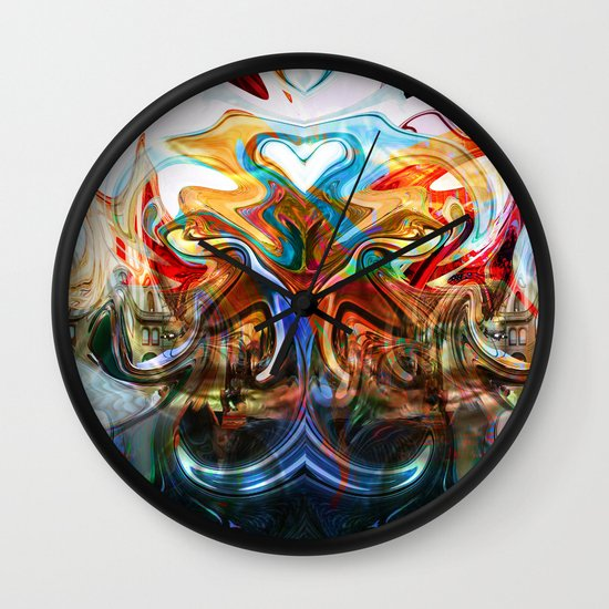 liquified space Wall Clock