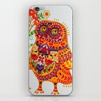 Decorated owl iPhone & iPod Skin