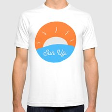 Sun Up Mens Fitted Tee White SMALL