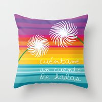 Cuéntame Un Cuento Throw Pillow