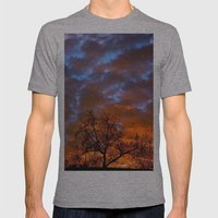 Winter Sunrise Mens Fitted Tee Athletic Grey SMALL