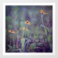 All Good Things (Daisy) Art Print