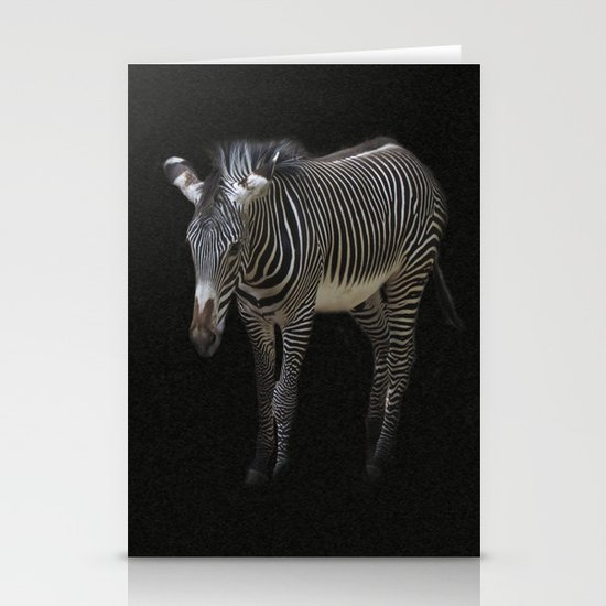 Black and White on Black Stationery Card