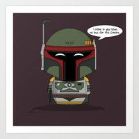 ChibizPop: No love for the Empire! Art Print