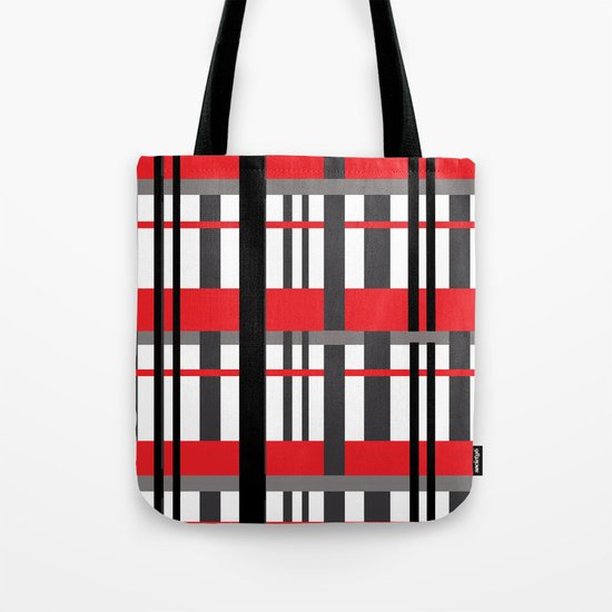 Lines and More Lines Tote Bag