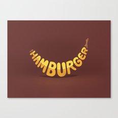 Healthy burger Canvas Print