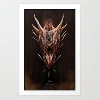 Smaug And The Thief Art Print