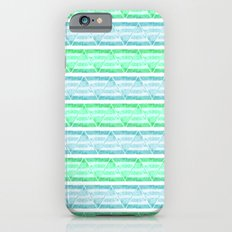 blue&green stripes iPhone 6s Slim Case