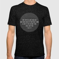 Isaiah 41:13 Mens Fitted Tee Tri-Black SMALL