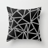 Shattered Ab Zoom  Throw Pillow