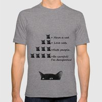 Do you love cats? Mens Fitted Tee Tri-Grey SMALL