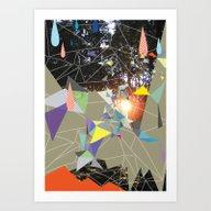 Sun Shining Through Forr… Art Print