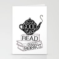 Drink Good Tea, Read Goo… Stationery Cards