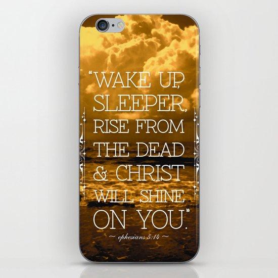 Wake Up Sleeper iPhone & iPod Skin