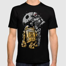 Daft Droids Mens Fitted Tee SMALL Black