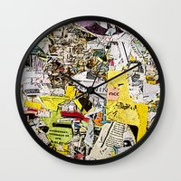 Shredded  Wall Clock