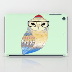 hipster owl iPad Case