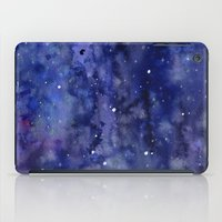Night Sky Galaxy Stars | Watercolor Space Texture iPad Case