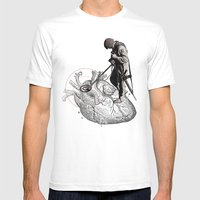 Lost and Found Mens Fitted Tee White SMALL