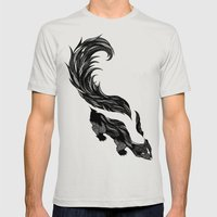 Skunk Mens Fitted Tee Silver SMALL