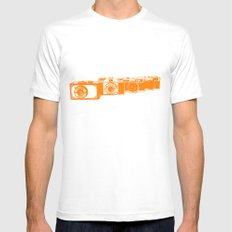 Orange photo White SMALL Mens Fitted Tee