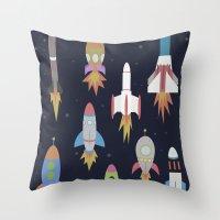 Rockets! Throw Pillow