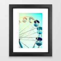Blue Carousel Framed Art Print