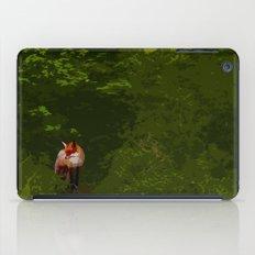 FOX IN A COOL GREEN WORLD iPad Case