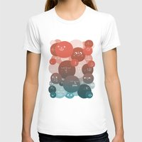 Blood Cells Womens Fitted Tee White SMALL