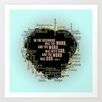 In the Beginning. John 1:1 Print. Art Print