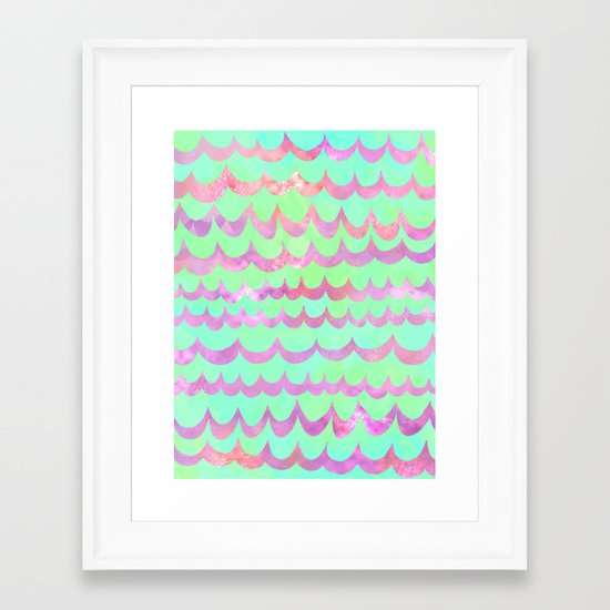 WAVES - Pastel Framed Art Print