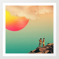 Honey, Look! Art Print