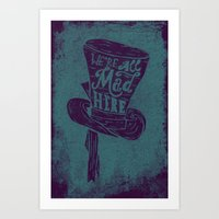 alice in wonderland Art Prints featuring Alice in Wonderland by Drew Wallace
