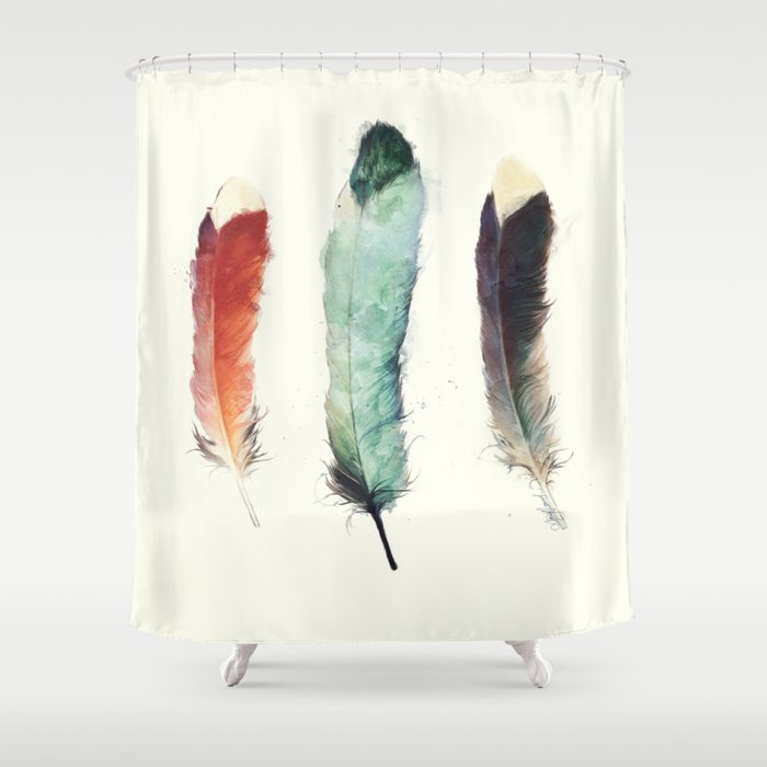 Feathers Shower Curtain by Amy Hamilton | Society6