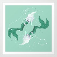 Zodiac Mermaid Art Print