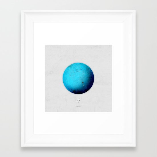 Element: Water Framed Art Print