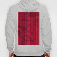 Grunge Blue stripes on bold red background illustration. Hoody