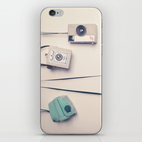 Hanging Retro Cameras  iPhone & iPod Skin