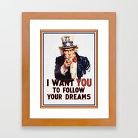 My Uncle Sam Framed Art Print