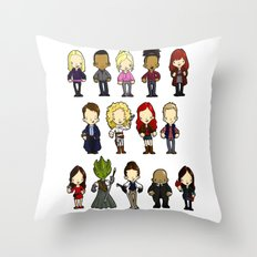 Doctors Companions and Friends V.2 Throw Pillow